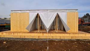 大林組と東大が小径間伐材で「ECOサイトハウス」を開発